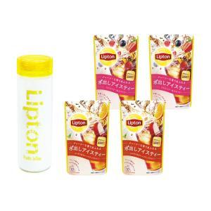 (公式) リプトン フルーツインティーメインセットC2(アイス用タンブラー1個とコールドブリュー パイナップル&ハイビスカス6個セット) lipton-jp