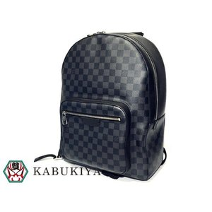 2d843a3158f704 LOUIS VUITTON ルイヴィトン ジョッシュ バックパック N41473 ダミエ・グラフィット ブラック グレー 黒 リュックサック バッグ  メンズ【中古】19-16184RS