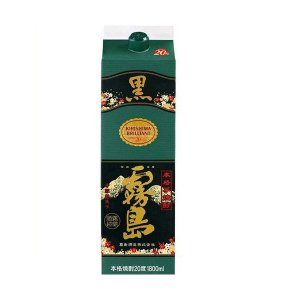 送料無料 黒霧島 芋 チューパック 20度 1.8L×6本/1ケース