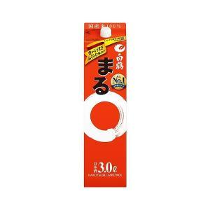 日本酒 送料無料 白鶴 サケパック まる 3000ml 3L×4本/1ケース あすつく
