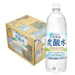 炭酸水 サンガリア 伊賀の天然水炭酸水 1000ml 1L ×12本 の商品画像