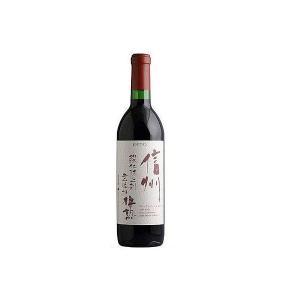 【日本ワイン】長野県 アルプス 信州酸化防止剤無添加 樽熟ワイン 赤 720ml 1本 wine|リカーBOSS PayPayモール店