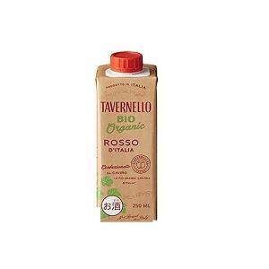 送料無料 ワイン 箱ワイン サントリー タヴェルネッロ BIO ピッコロ ロッソ 250ml×48本 wine|リカーBOSS PayPayモール店