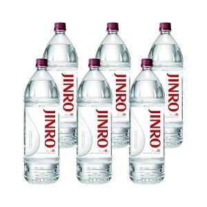 送料無料 甲類 JINRO 眞露 ジンロ デザインボトル 25度 ペット 1800ml 1.8L×6...