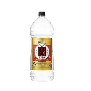 送料無料 タカラ 宝酒造 宝焼酎 極上宝 25度 4L×4本