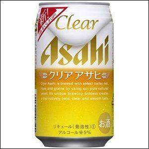 「送料無料」 アサヒクリアアサヒ 350ml缶 1ケース(24本入り)【ゆうパック限定 送料無料】|liquorisland