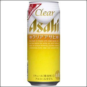 「送料無料」 アサヒクリアアサヒ 500ml缶 2ケース(48本入り)【ゆうパック限定 送料無料】|liquorisland