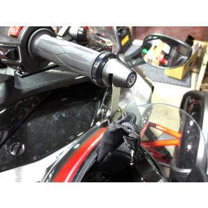 SPYDER F3 RT バーエンドヘルメットホルダー 1個SET 黒|lirica-store