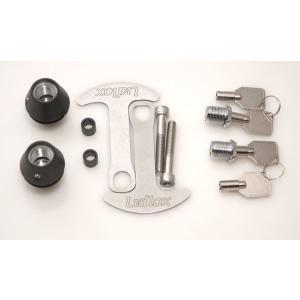 ヘルメットロック 6mmボルト汎用 ブラック ダブル lirica-store