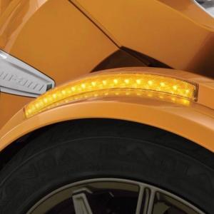 BRP Can−Am SPYDER Fフェンダー LEDサイドマーカー(イエロー)SHOW CHROME製|lirica-store