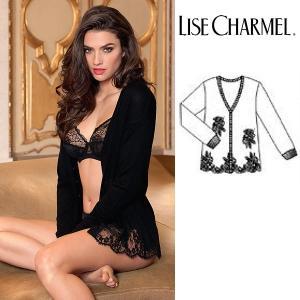 リズシャルメル LISE CHARMEL ニットカーディガン カシミア・シルク 品番ALC5689 インポートランジェリー|lisecharmel