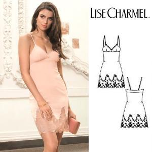 リズシャルメル LISE CHARMEL スリップ ストレッチシルクジョーゼット 品番ALC1091 インポートランジェリー|lisecharmel