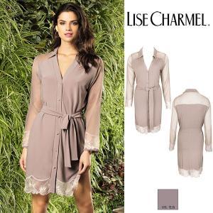リズシャルメル LISE CHARMEL ベルト付きシャツ(モダール) 品番ALG2112 インポートランジェリー|lisecharmel