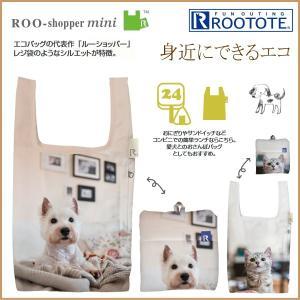 ◆ブランド:ルートート ROOTOTE  ネコとワンちゃんのプリントがとてもかわいいエコバッグ♪ ち...
