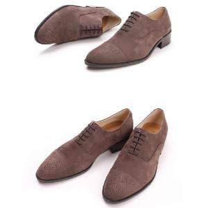本革 ビジネスシューズ ストレートチップ メダリオン ヌバック生地 紳士靴 靴 fa1111pn|little-globe|06