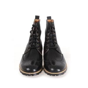 メンズブーツ カントリー ウイングチップ メダリオン 本革 靴 ウィングチップ ワークブーツ fa1118|little-globe|02