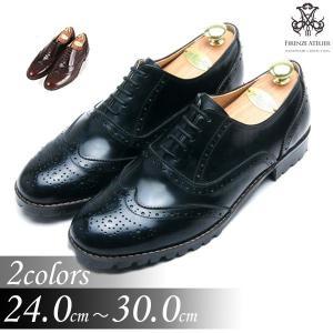 本革 ウイングチップ ラバーソール 靴 ビジネスシューズ ウィングチップ fa1119|little-globe