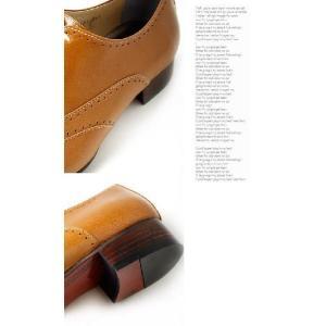 本革 ユーチップ 紳士靴 甲高 幅広 Uチップ 靴 ビジネスシューズ fa1123|little-globe|04