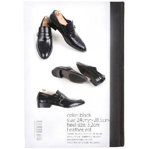 本革 紳士靴 スリッポン シングルバックル ローファー 靴 ビジネスシューズ fa1376q|little-globe|02