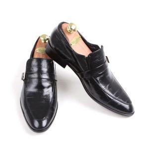 本革 紳士靴 スリッポン シングルバックル ローファー 靴 ビジネスシューズ fa1376q|little-globe|03