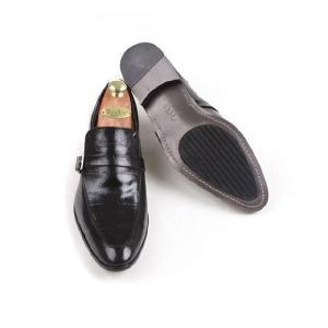 本革 紳士靴 スリッポン シングルバックル ローファー 靴 ビジネスシューズ fa1376q|little-globe|04