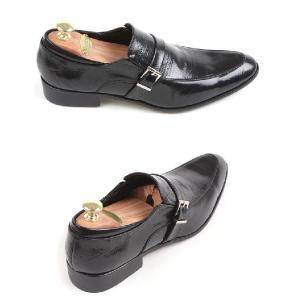 本革 紳士靴 スリッポン シングルバックル ローファー 靴 ビジネスシューズ fa1376q|little-globe|05