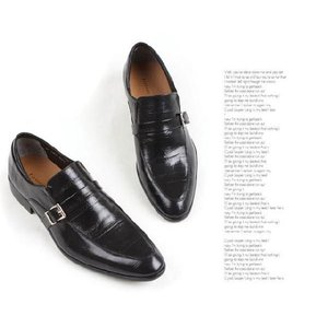 本革 紳士靴 スリッポン シングルバックル ローファー 靴 ビジネスシューズ fa1376q|little-globe|06