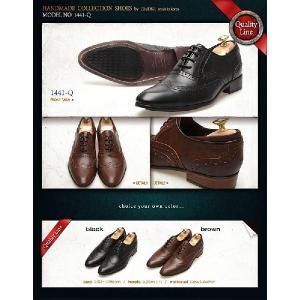 本革 ウイングチップ メダリオン 紳士靴 靴 ビジネスシューズ ウィングチップ fa1441q|little-globe|06