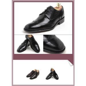 本革 紳士靴 ウイングチップ メダリオン ビジネス 定番 おかめ飾り 靴 ビジネスシューズ ウィングチップ fa2011q|little-globe|03