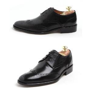 本革 紳士靴 ウイングチップ メダリオン ビジネス 定番 おかめ飾り 靴 ビジネスシューズ ウィングチップ fa2011q|little-globe|05