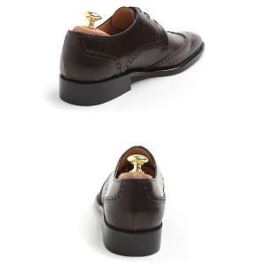本革 紳士靴 ウイングチップ メダリオン ビジネス 定番 おかめ飾り 靴 ビジネスシューズ ウィングチップ fa2011q|little-globe|06