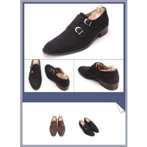 ビジネスシューズ 本革 靴 ヌバック ダブルモンクストラップ fa2022|little-globe|03