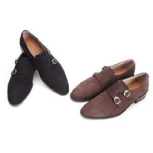 ビジネスシューズ 本革 靴 ヌバック ダブルモンクストラップ fa2022|little-globe|04