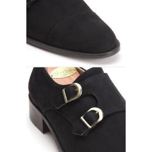 ビジネスシューズ 本革 靴 ヌバック ダブルモンクストラップ fa2022|little-globe|05