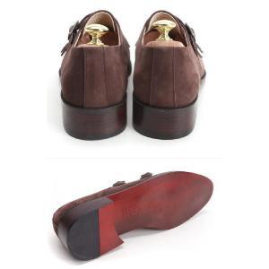 ビジネスシューズ 本革 靴 ヌバック ダブルモンクストラップ fa2022|little-globe|06