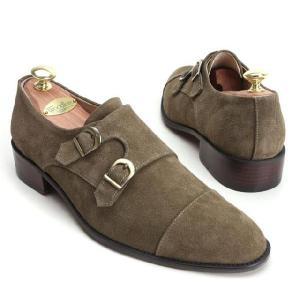 本革 紳士靴 ダブルモンク カラーバリエーション 靴 スウェード スエード fa2022s|little-globe|03