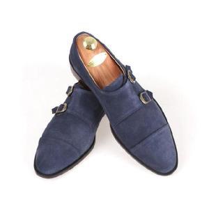 本革 紳士靴 ダブルモンク カラーバリエーション 靴 スウェード スエード fa2022s|little-globe|04