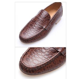 モカシン 本革ローファー 柔らかくて軽い紳士靴 カジュアルスタイル 靴 fa4700cl|little-globe|05