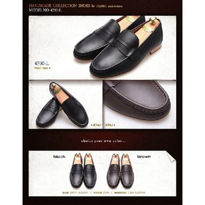 本革ローファー 紳士靴 モカシン カジュアルスタイル 靴 fa4700l|little-globe|06