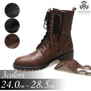 エンジニアブーツ ブーツ バックル取り外し可能 2way ショート ミドル メンズブーツ ハイヒール 靴 ワークブーツ fa4702q|little-globe