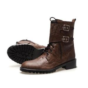 エンジニアブーツ ブーツ バックル取り外し可能 2way ショート ミドル メンズブーツ ハイヒール 靴 ワークブーツ fa4702q|little-globe|02