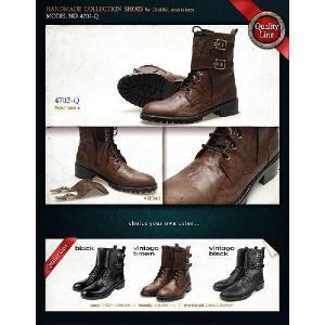 エンジニアブーツ ブーツ バックル取り外し可能 2way ショート ミドル メンズブーツ ハイヒール 靴 ワークブーツ fa4702q|little-globe|06
