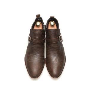 ブーツ メンズ アンクル ショート バックル ヒール高 靴 fa4776q|little-globe|02
