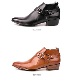 ブーツ メンズ アンクル ショート バックル ヒール高 靴 fa4776q|little-globe|03