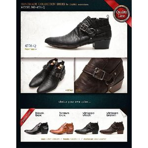ブーツ メンズ アンクル ショート バックル ヒール高 靴 fa4776q|little-globe|06