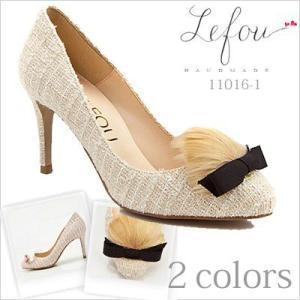 大きいサイズ 靴 レディース パンプスリボンつきツイードパンプス le11016-1 2013 新作|little-globe