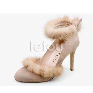 大きいサイズ 靴 レディース パンプス高級感たっぷりのミンクファー付 le11067 2013 新作 little-globe 03