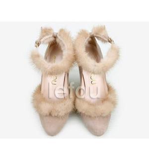大きいサイズ 靴 レディース パンプス高級感たっぷりのミンクファー付 le11067 2013 新作 little-globe 04
