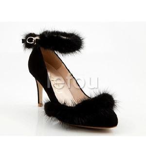 大きいサイズ 靴 レディース パンプス高級感たっぷりのミンクファー付 le11067 2013 新作 little-globe 06