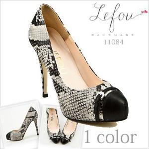 ラウンドトゥ 大きいサイズ 靴 レディース パンプスヘビ革×本革 le11084 2013 新作|little-globe